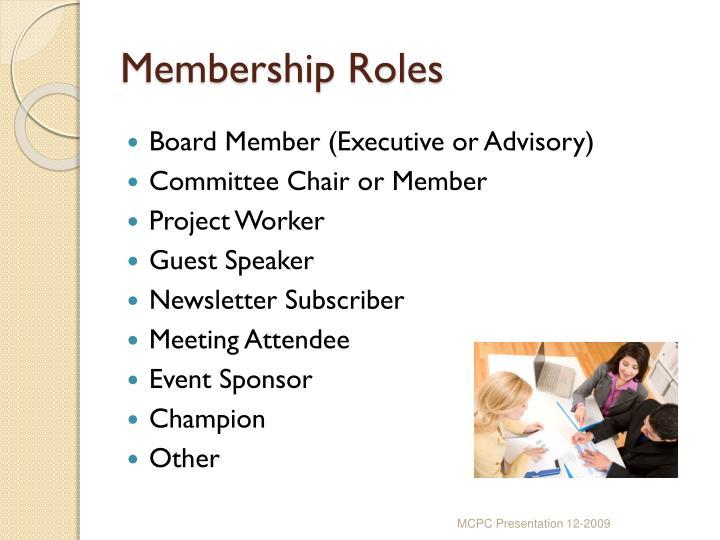 Membership Roles