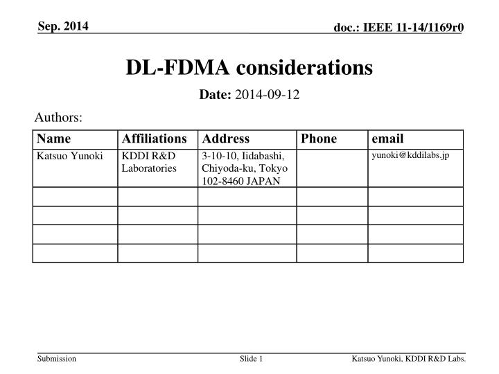 Dl fdma considerations