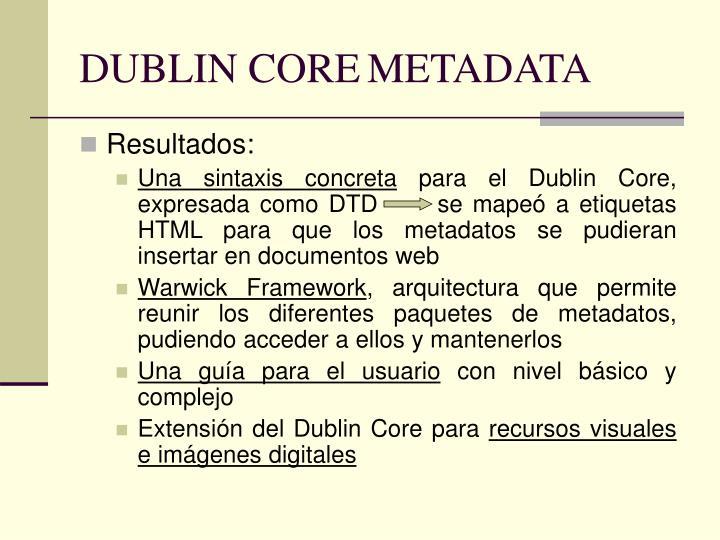 DUBLIN COREMETADATA