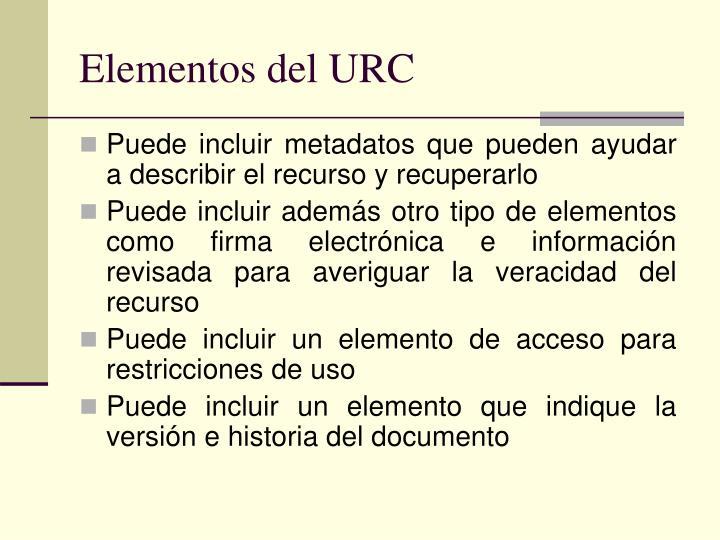 Elementos del URC