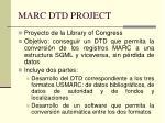 marc dtd project