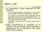 rdf vs dc