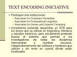 text encoding iniciative