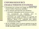 uniform resource characteristic citations