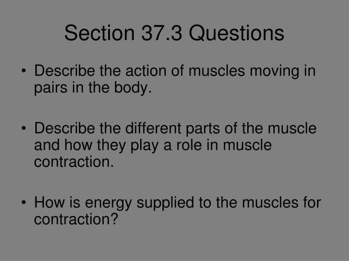 Section 37.3 Questions