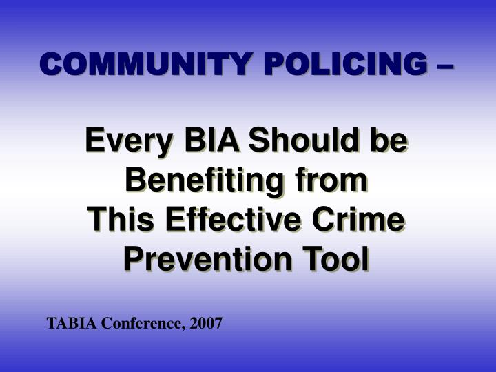 is community policing effective 2014 study in the journal of experimental criminology measuring the effectiveness of community policing in the united states through a quantitative analysis of prior academic studies.