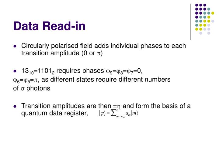 Data Read-in