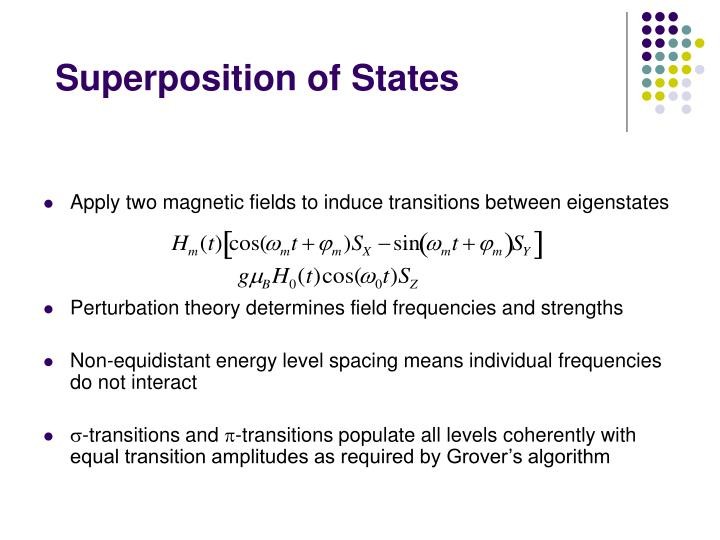 Superposition of States