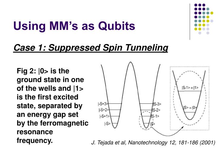 Using MM's as Qubits