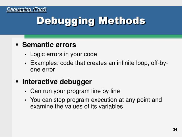 Debugging (Ford)