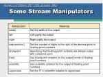 some stream manipulators