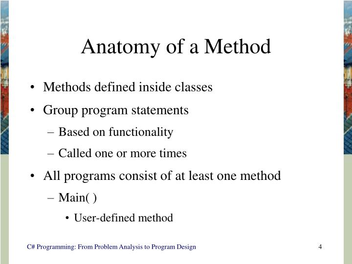 Anatomy of a Method
