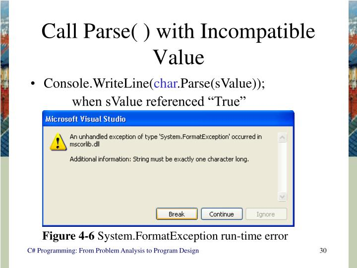 Call Parse( ) with Incompatible Value