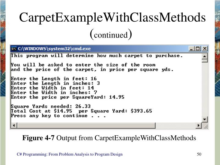CarpetExampleWithClassMethods (