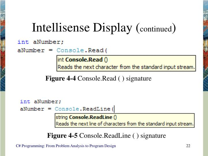 Intellisense Display (