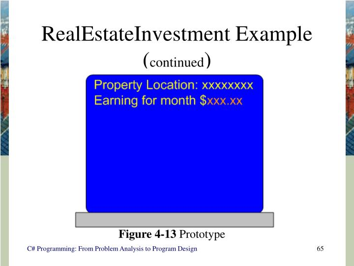 RealEstateInvestment Example (