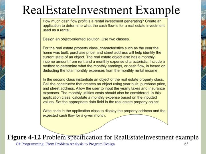 RealEstateInvestment Example