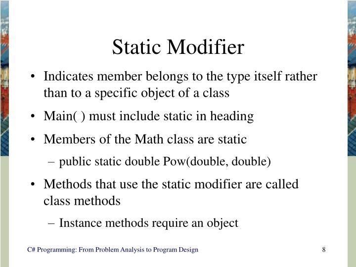 Static Modifier