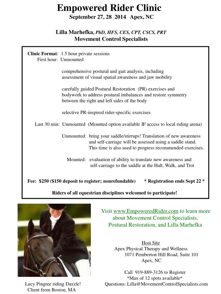Empowered Rider Clinic