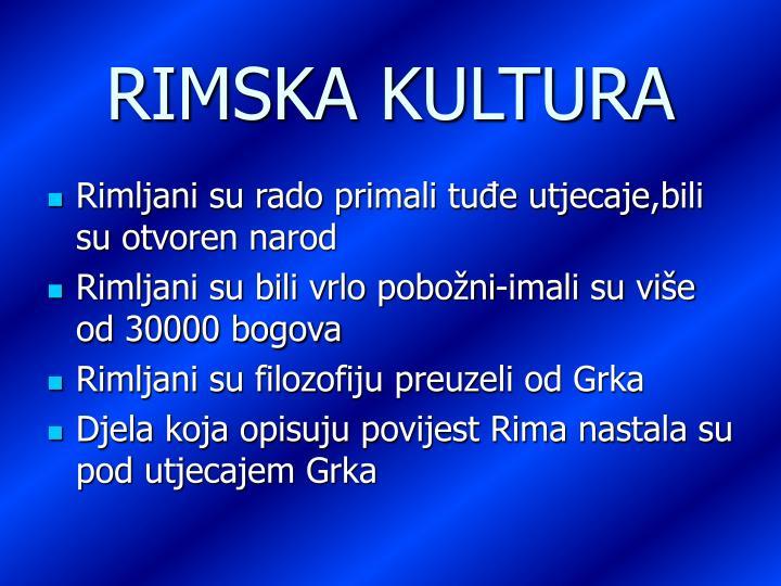 RIMSKA KULTURA