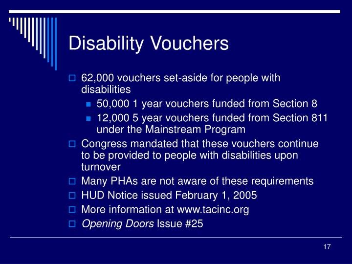 Disability Vouchers