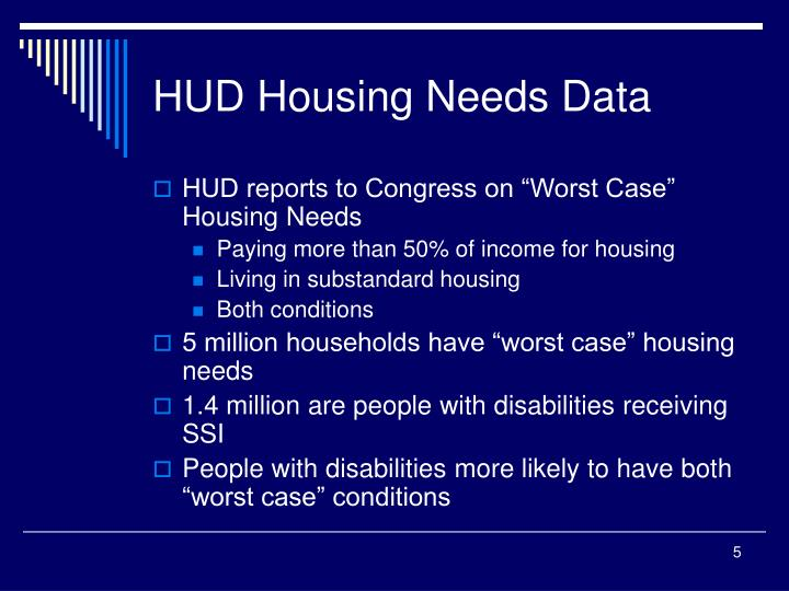 HUD Housing Needs Data