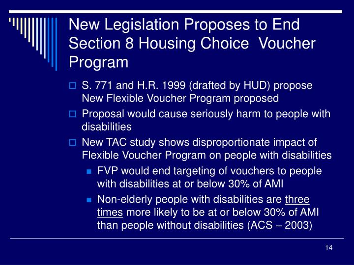 New Legislation Proposes to End Section 8 Housing Choice  Voucher Program