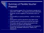summary of flexible voucher proposal