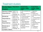 treatment clusters
