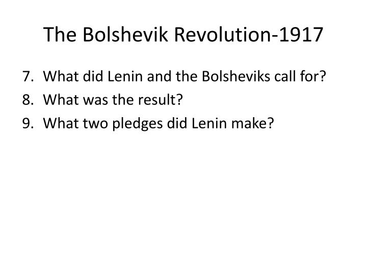 The Bolshevik Revolution-1917