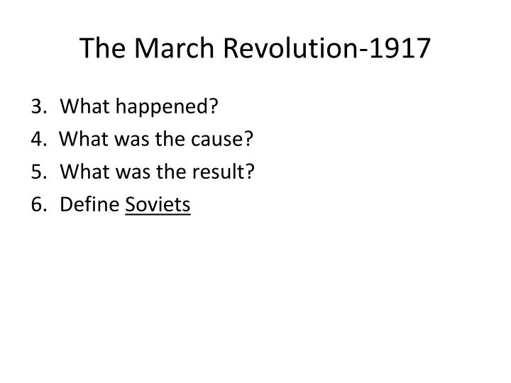 The March Revolution-1917