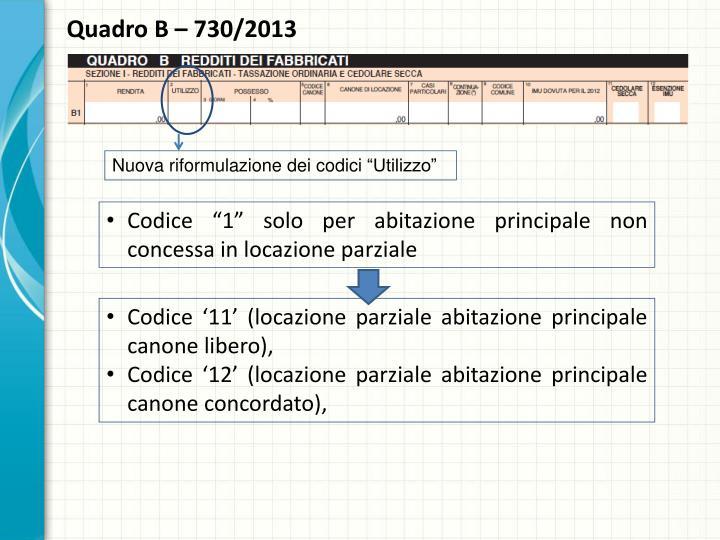 Quadro B – 730/2013