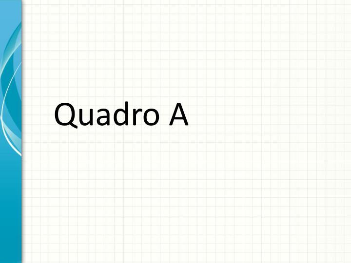 Quadro A