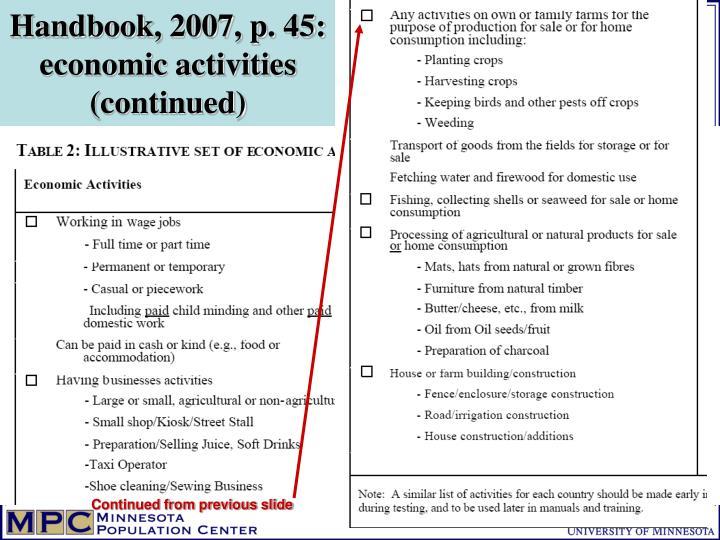 Handbook, 2007, p. 45: