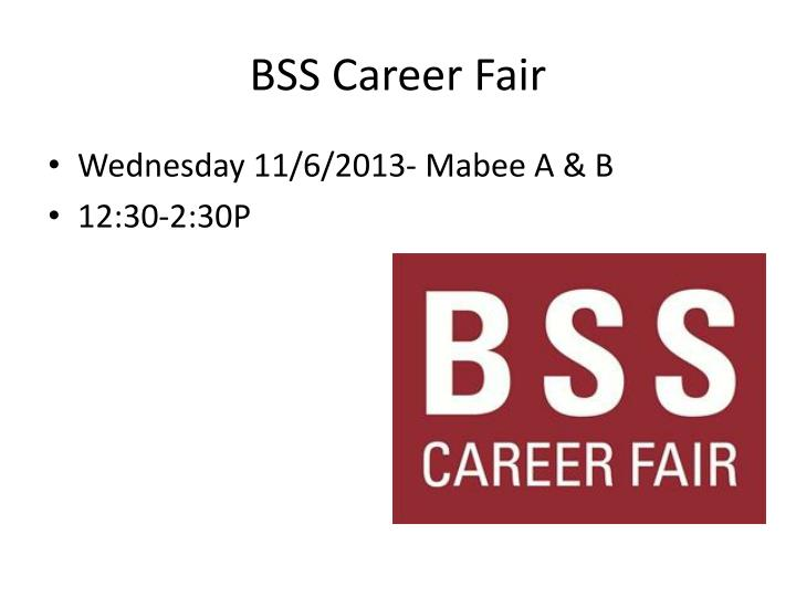 BSS Career Fair