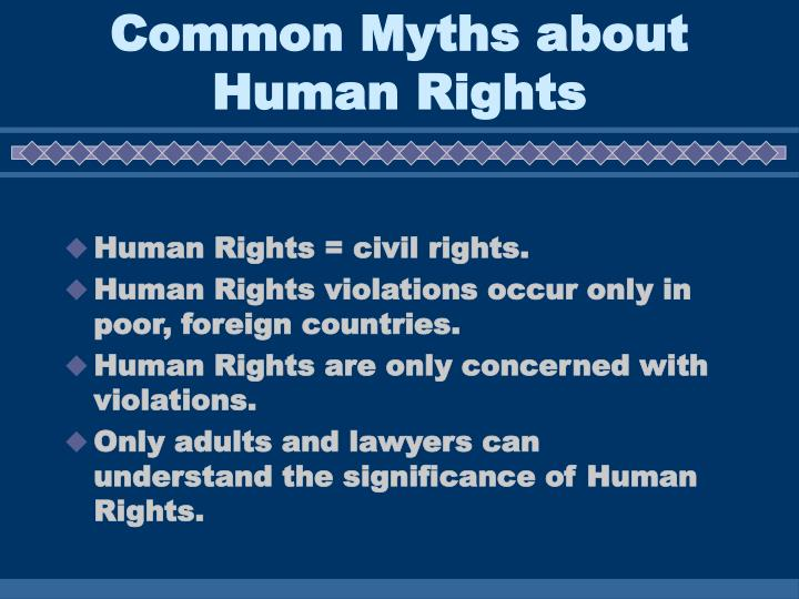 Common myths about human rights