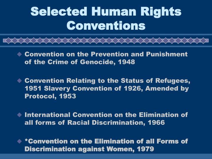Selected Human Rights Conventions