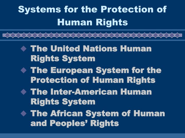 Systems for the Protection of Human Rights