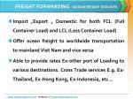 freight forwarding ocean freight services