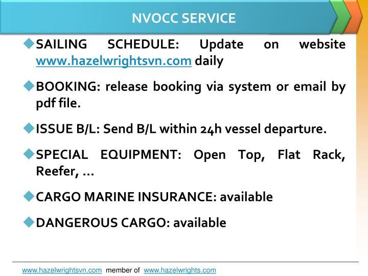 NVOCC SERVICE