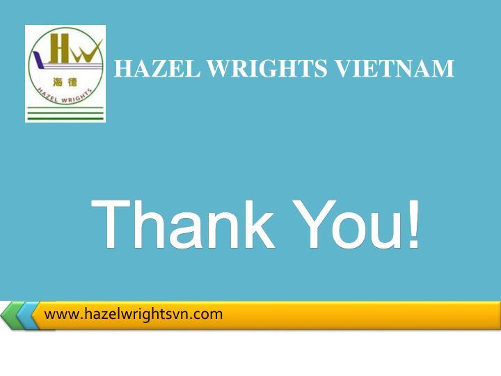 HAZEL WRIGHTS VIETNAM