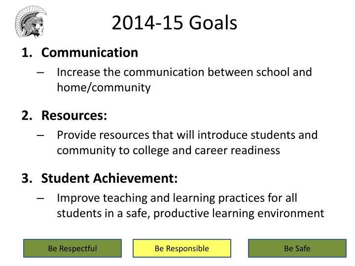 2014-15 Goals