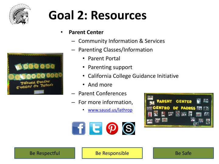 Goal 2: Resources