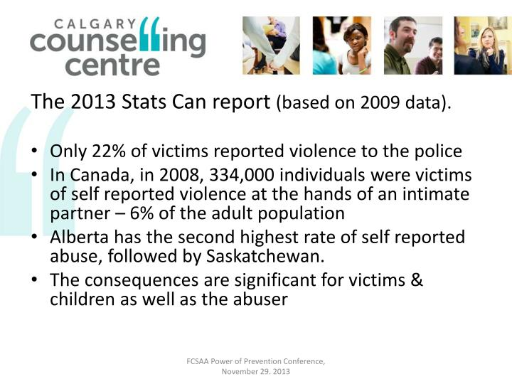 The 2013 Stats Can report