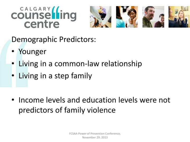 Demographic Predictors: