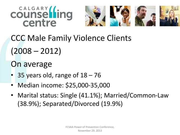 CCC Male Family Violence Clients