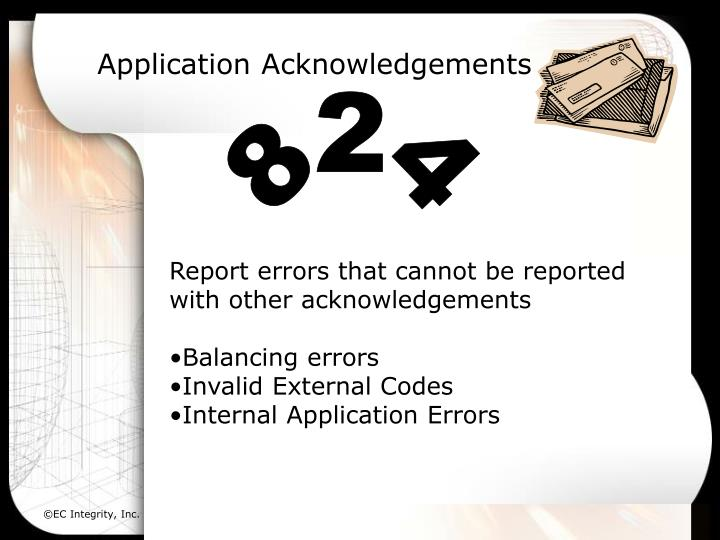 Application Acknowledgements
