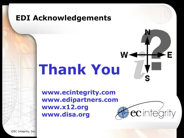 EDI Acknowledgements