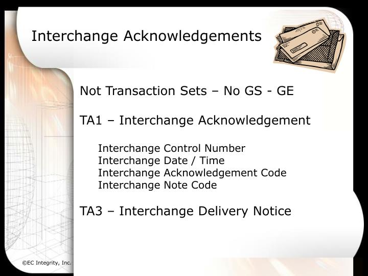 Interchange Acknowledgements