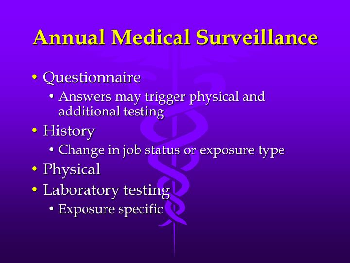 Annual Medical Surveillance